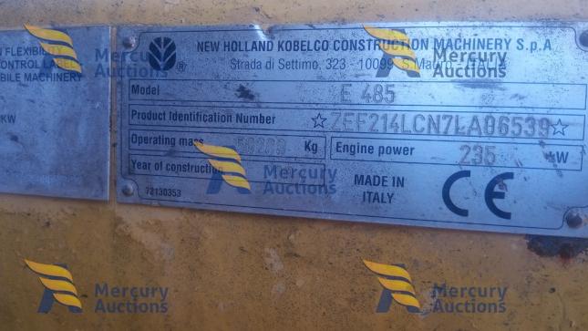 Escavatore cingolato New Holland E485 -movimento terra- asta online-usato (4)