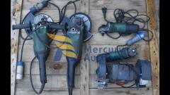 smerigliatrici, levigatrice, cassette in ferro, fili e tubi elettrici (5)